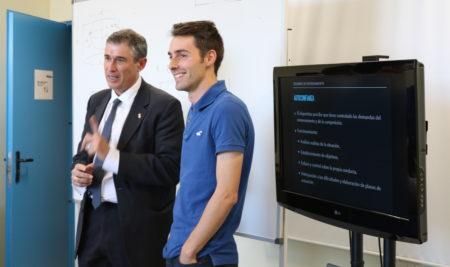 Miguel Ángel Serrano Niño, director de la Escuela de Entrenadores de la Federación de Fútbol de Madrid, visita IDE